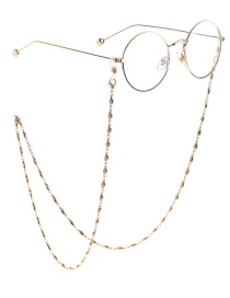 Fashion Gold Oval Bead Chain Glasses Chain
