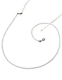 Fashion White K Lanyard Twist Chain