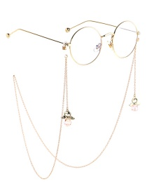 Fashion Gold Crystal Diamond Angel Anti-skid Glasses Chain