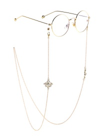 Fashion Gold Non-slip Accessories Metal Pearl Cross Glasses Chain