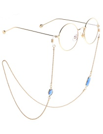 Fashion Blue Beaded Chain Acrylic Crystal Non-slip Glasses Chain