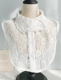 Fashion Lace Flowers D White Flower Lace Fake Collar  Polyester