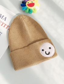 Fashion Doll Smiley Khaki Funny Smiley Wool Cap