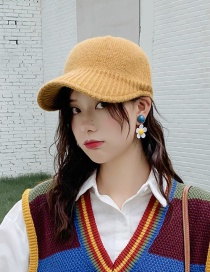 Fashion Wool Knit Turmeric Knitted Wool Baseball Cap