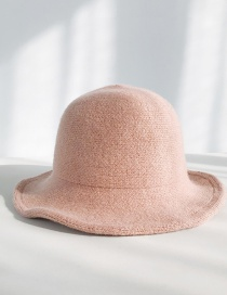 Fashion Brushed Wool Knit Pink Wool Knit Fisherman Hat