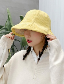 Fashion Corduroy Double-sided Yellow Corduroy Pit Strips On Both Sides Wearing Fisherman Hats
