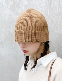 Fashion Wool Bucket Cap Dark Brown Knit Fisherman Hat