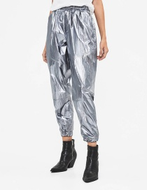 Fashion Silver Metallic Jogging Trousers