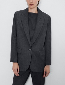 Fashion Dark Gray Pocket Blazer