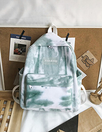 Green Silicone Letter Labeling Canvas Backpack