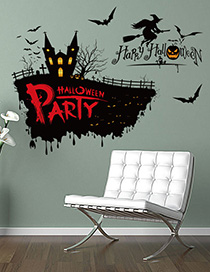Fashion Multicolor 3041 Halloween Witch Can Remove Pvc Wall Sticker