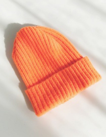 Fashion Mohair Orange Knitted Wool Cap