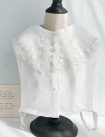 Fashion White Lace Chiffon Fake Collar
