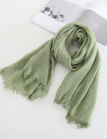 Fashion Avocado Green Distressed Solid Color Scarf Shawl