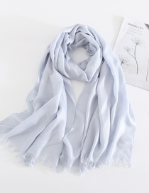 Light Blue Solid Color Cashmere Scarf Shawl