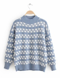Blue Diamond Color Matching Sweater