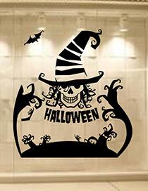 Fashion Black Kst-62 Halloween Clown Hat Wall Sticker