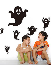 Fashion Multicolor Kst-1 Halloween Little Ghost Wall Sticker