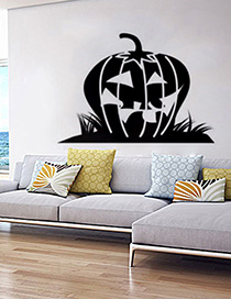 Fashion Multicolor Kst-58 Halloween Wall Sticker Pumpkin Head Pvc Removable Wall Sticker