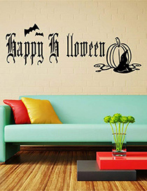 Fashion Multicolor Kst-69 Happy Halloween Wall Sticker