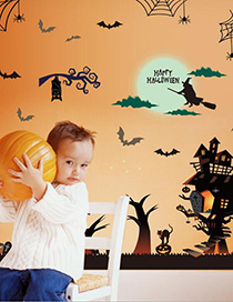 Fashion Multicolor Sk9220 Halloween Wall Sticker