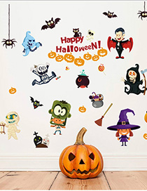 Fashion Multicolor Sk9096 Halloween Wall Sticker