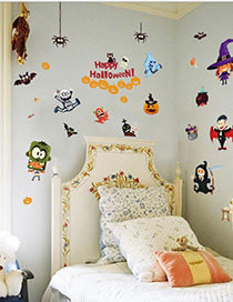 Fashion Color Sk9096 Removable Stickers Halloween Wall Stickers
