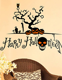 Fashion Multicolor Kst-47 Halloween God Tree Dark Skull Wall Sticker
