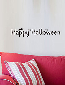 Fashion Multicolor Kst-67 Halloween Wall Sticker