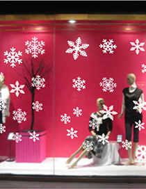 Fashion Color Amj301 Christmas Snowflakes Came To The Wall Sticker