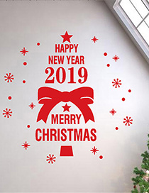 Fashion Red Christmas Wall Sticker