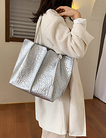 Fashion One Silver Embossed Child Hand Shoulder Bag