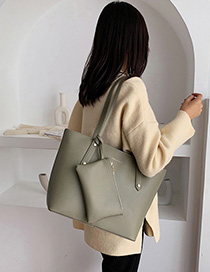 Fashion Matcha Green Studded Shoulder Bag