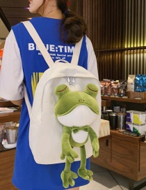 Fashion White Tong Doll Frog Backpack