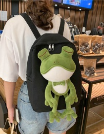 Fashion Black Tong Doll Frog Backpack