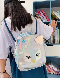 Fashion Silver Laser Owl Backpack