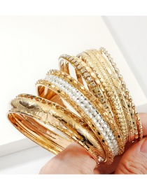 Fashion Gold Multi-layer Diamond Alloy Bracelet