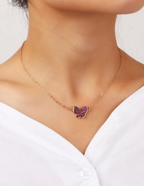 Fashion Golden Butterfly Alloy Necklace