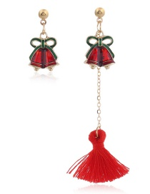 Fashion Color Bell Cartoon Elk Bell Christmas Tree Tassel Earrings