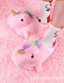 Fashion Pink Cartoon Unicorn Plush Half Drag