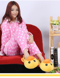 Fashion Big Yellow Duck Cartoon Three-dimensional Plush Cotton Slippers