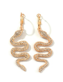 Fashion Gold Serpentine-studded Earrings