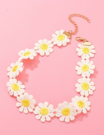 Fashion Yellow Daisy Flower Necklace