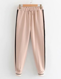 Fashion Pink Colorblock Lace Trousers