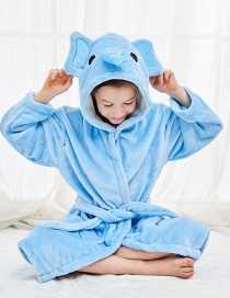 Fashion Elephant Robe Flannel Cartoon Hooded Animal Home Service