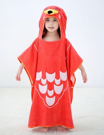 Fashion Red Flamingo Hooded Cloak Cartoon Baby Can Wear Towel