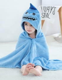 Fashion Shark Bathrobe (coral Fleece) Shark Coral Velvet Hooded Towel