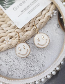 Fashion White Smiley Earrings
