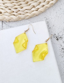 Fashion Yellow Geometric Transparent Acrylic Earrings