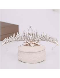 Fashion Silver Crystal Rhinestone Crown Headband